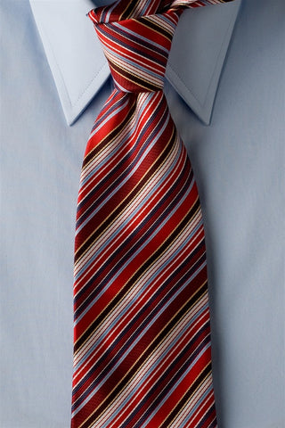 Candy Cane - Red Striped Necktie with Candy Cane Stripes