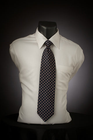 Pink Dot - Dark Blue Necktie with Pink Dots