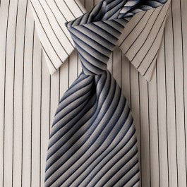 Blue Cake - Blue Striped Necktie