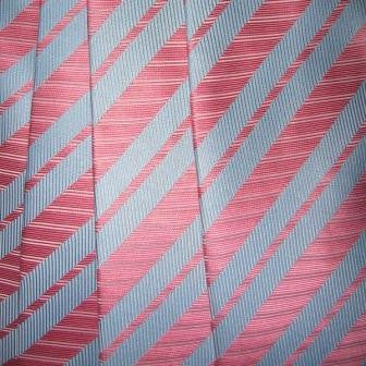 Pink, Light Blue Striped Necktie