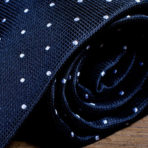 Constellation - Black Necktie with White Dots