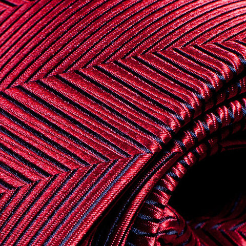 Little Italy - Red Necktie with Sawtooth Pattern