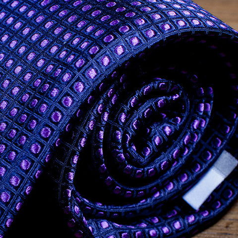 Lawyer Purple - Purple Dotted Necktie