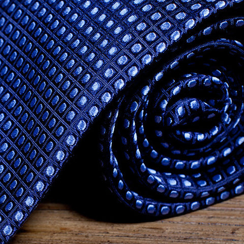Lawyer Blue - Blue Necktie with Light Blue Dots