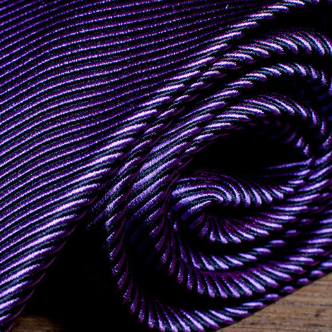 JuJu Stripe Purple - Purple Striped Necktie