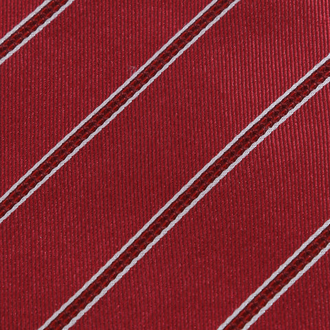 Power Play - Red Kids Necktie with Red and White Striped