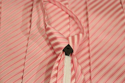 Pink Striped Zipper Tie with Textured Stripes