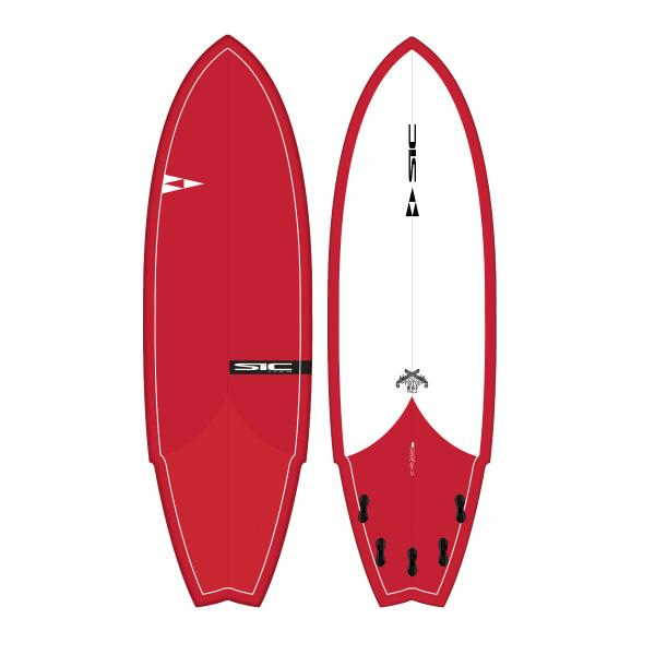 "SIC Pistol Whip 6'0"" Fish - Fluid.no"