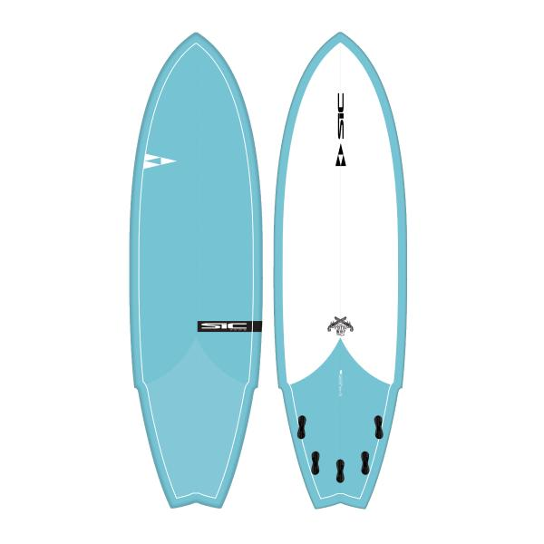 "SIC Pistol Whip 6'4"" Fish - Fluid.no"