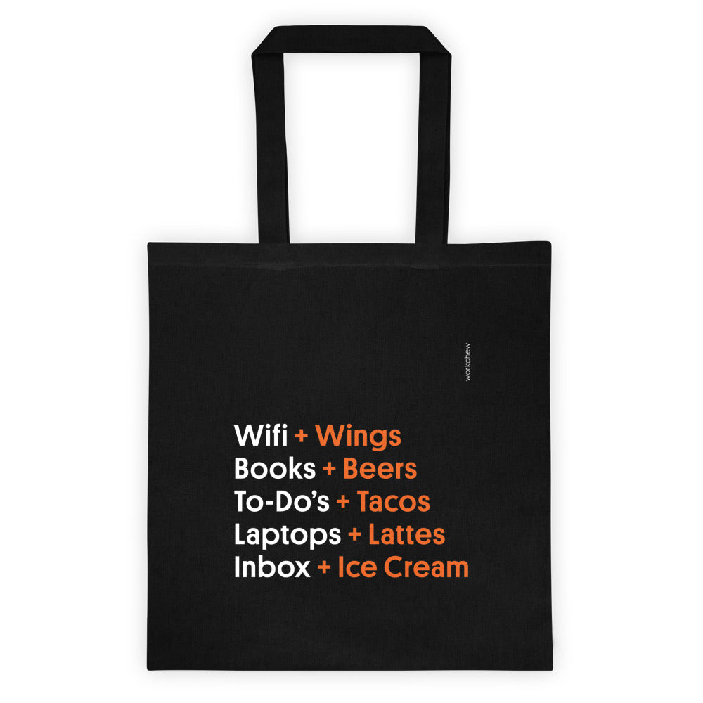 Work + Food Tote Bag