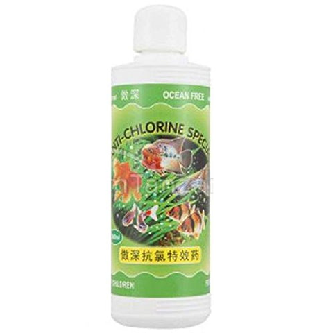 Ocean Free Anti Chlorine Special Aquarium Water Conditioner, 240 ml