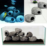 Aquarium Cichlid Stones Ceramic Rock pack of 3 pieces Cave Ornament Cichlid Stones Fish Tank Cichlid Stones Decorati