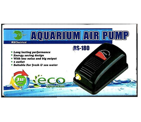 RS Electricals RS-180 Aquarium SuperOxygen Air Pump Original Imported Product