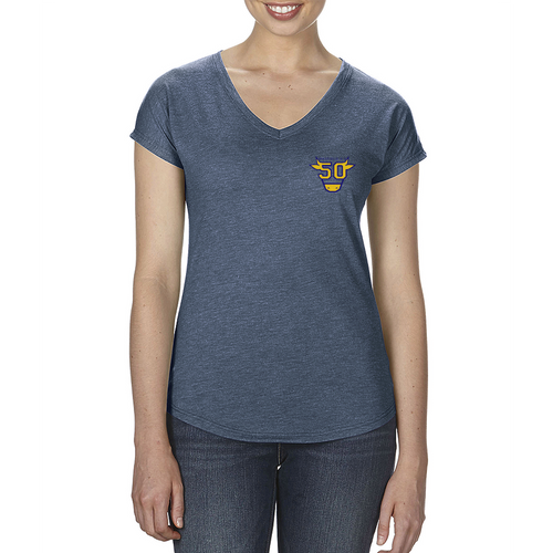 LADIES LIGHTWEIGHT V-NECK TEE