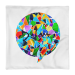 Defacto Mosaic Square Pillow ( case only )
