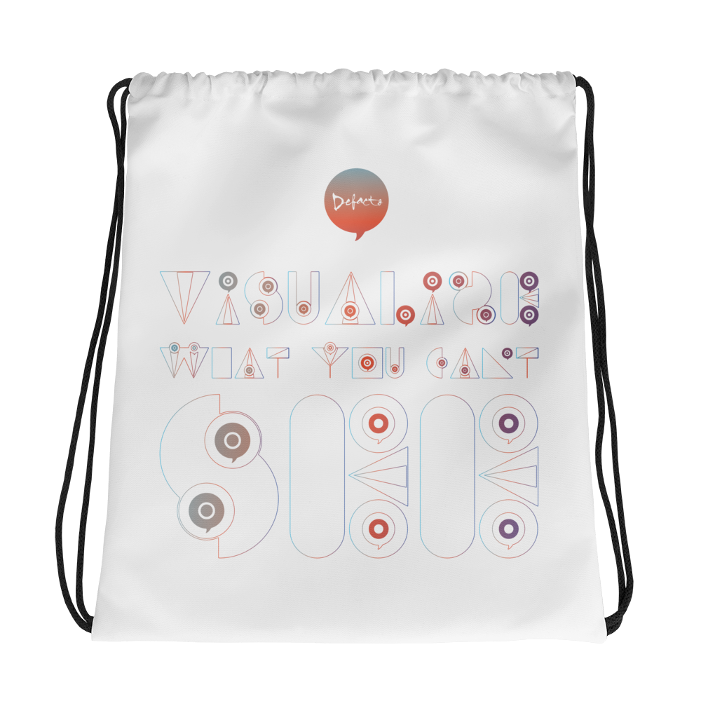 Visualize What You Can't See Drawstring bag