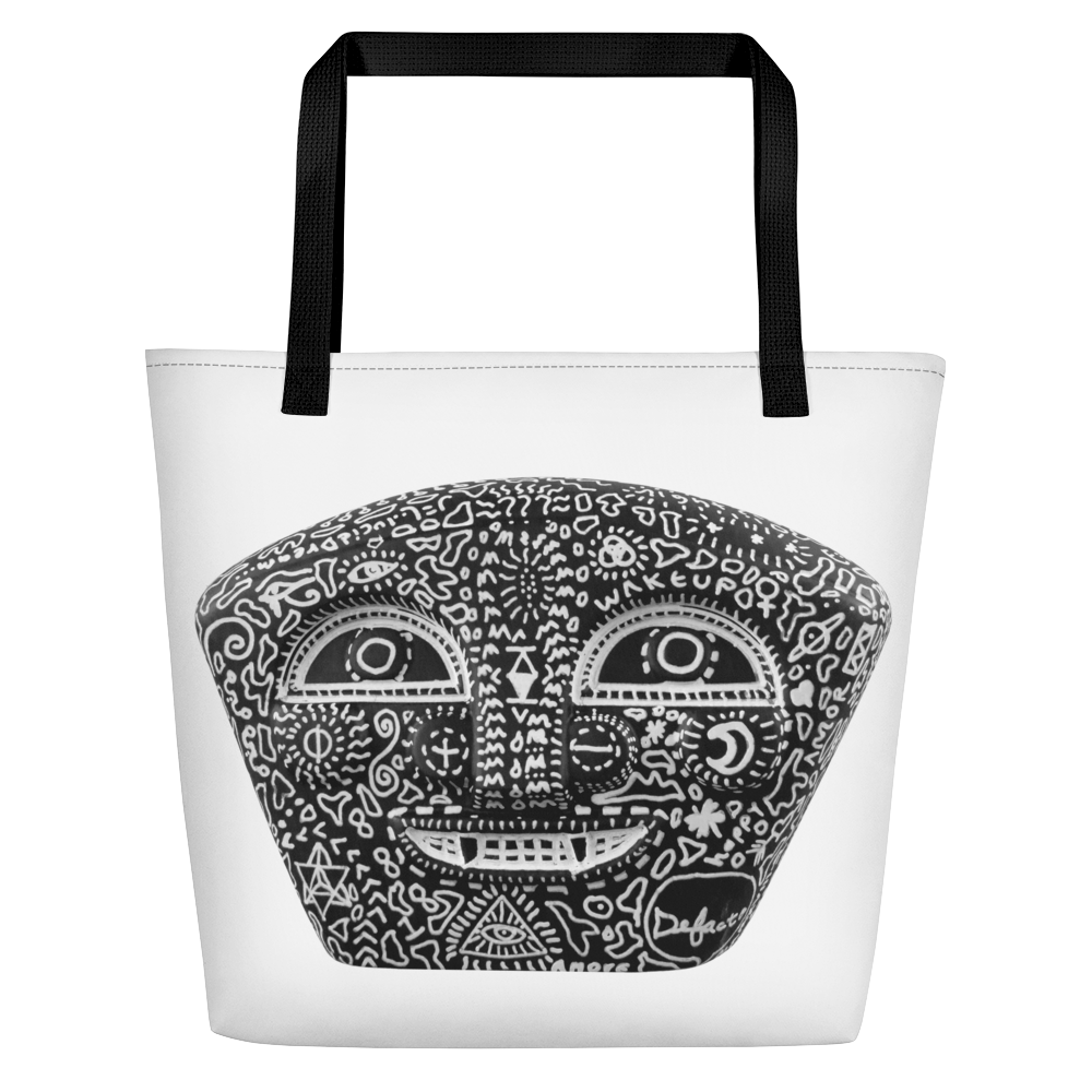 Defacto + Lucid Dreamer ( BlackNegro ) Beach Bag