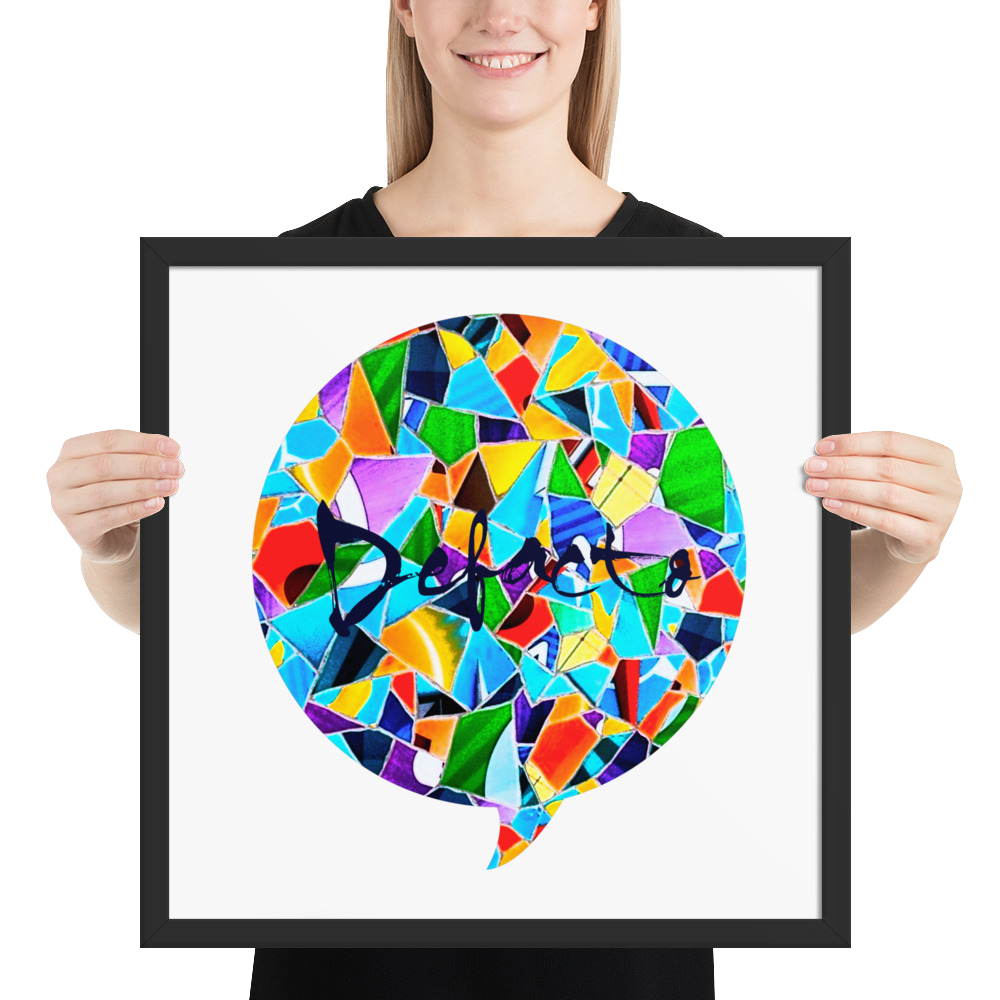 Defacto Mosaic ( framed photo paper poster )