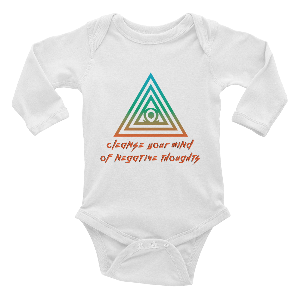 Cleanse Your Mind Of Negative Thoughts Infant Long Sleeve Bodysuit