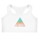 Cleanse Your Mind Of Negative Thoughts Sports bra