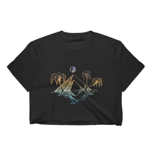 Pyramids & Palms Gradient Women's Crop