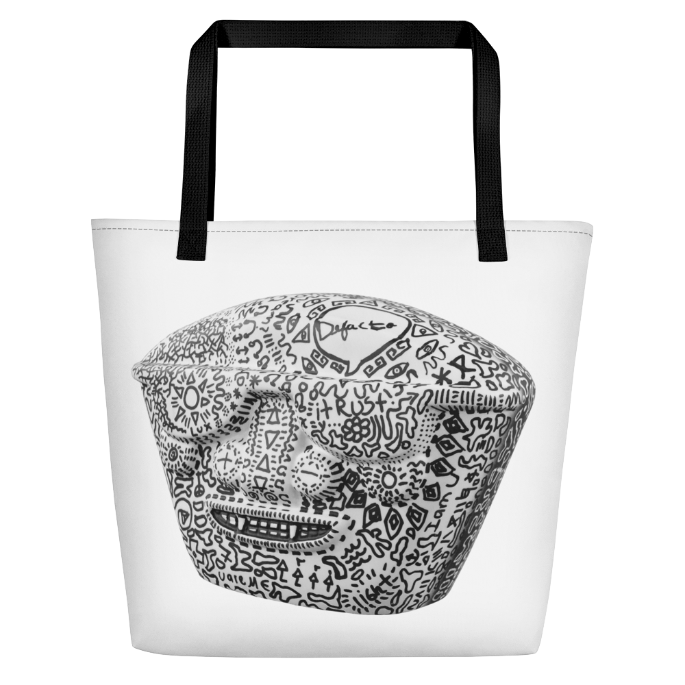 Defacto + Lucid Dreamer ( WhiteBlanco ) Beach Bag