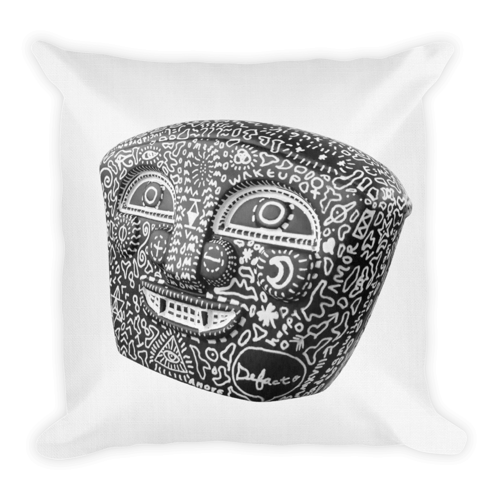 Defacto + Lucid Dreamer ( BlackNegro ) Premium Pillow