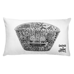 Defacto + Lucid Dreamer ( WhiteBlanco ) Pillow
