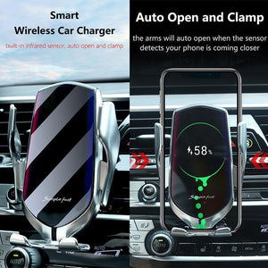 (Last Day 50% OFF)Wireless Automatic Sensor Car Phone Holder and Charger