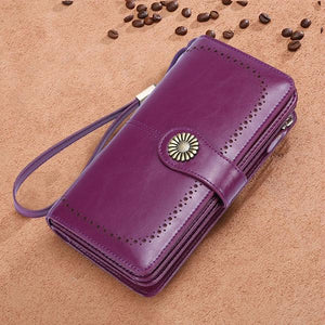 RFID Luxury Women Leather Wallet - Christmas Gift