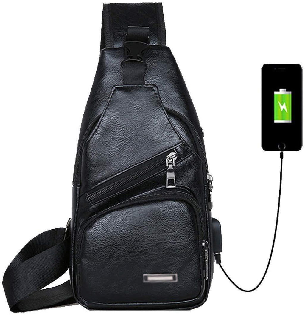 (50% OFF )Shoulder Backpack Crossbody Daypack Bags With USB Port