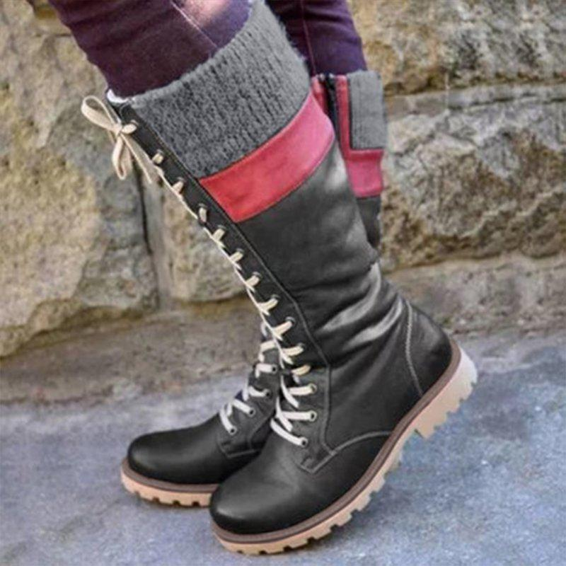 Plus Size Daily Vintage Soft Waterproof Snowboots