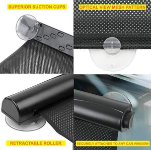 2 Pack Car Window Sunshade Retractable Foldable Windshield Sunshade Cover Curtain