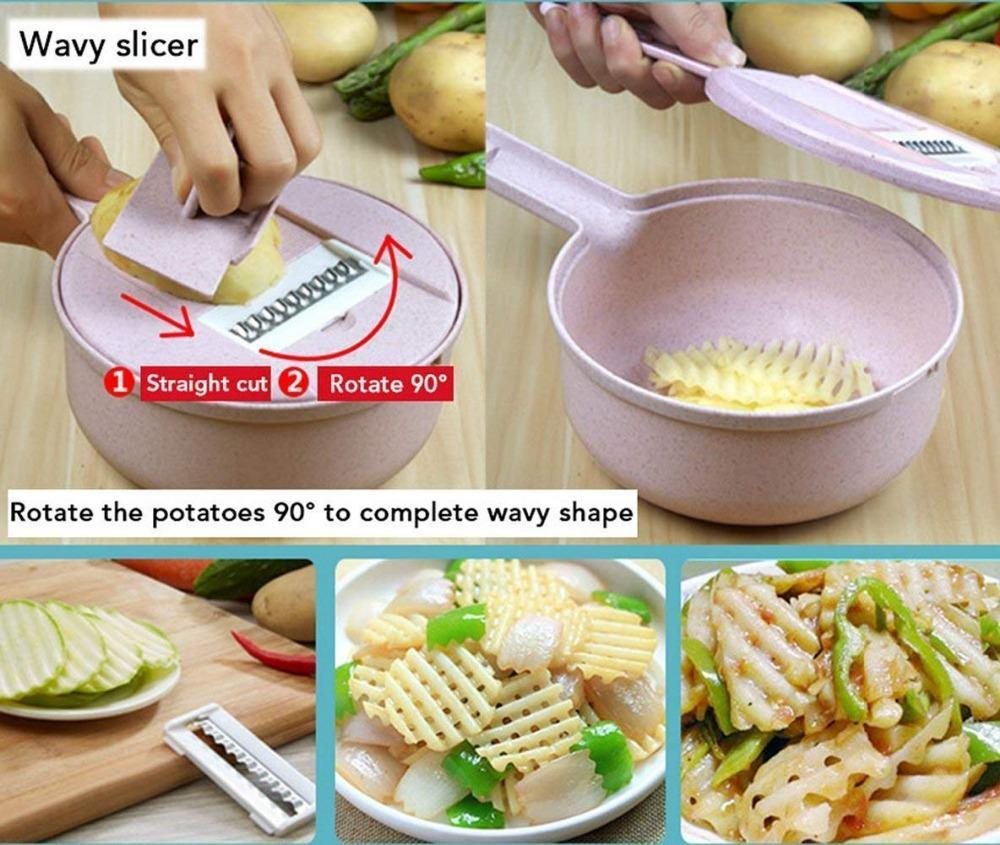9 IN 1 Multi-function EASY FOOD CHOPPER-Buy 2 Save $5 Free shipping