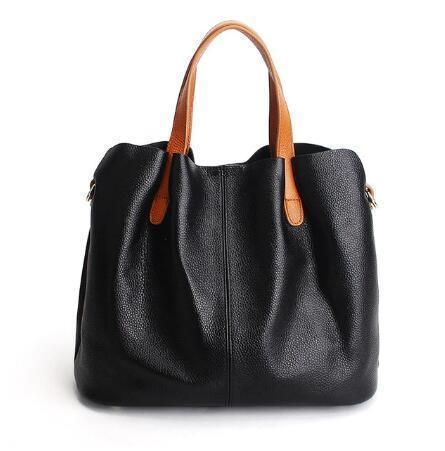 Hot-Sell Two In One Leather Shopper Tote Bag