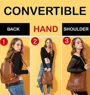 3-Way Convertible Anti-Theft Waterproof Leather Bag With Large Capacity (Limited Edition)