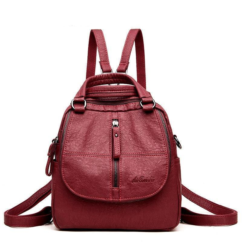 Fashion Leather Multipurpose Backpack (50% OFF)