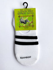 Bamboo No Show Cushion Sport Socks