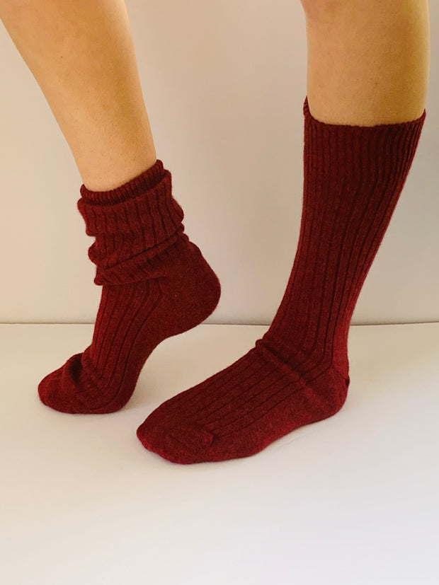 Men's Rib Possum/Merino Sock