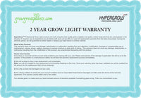 HyperGrow Warranty