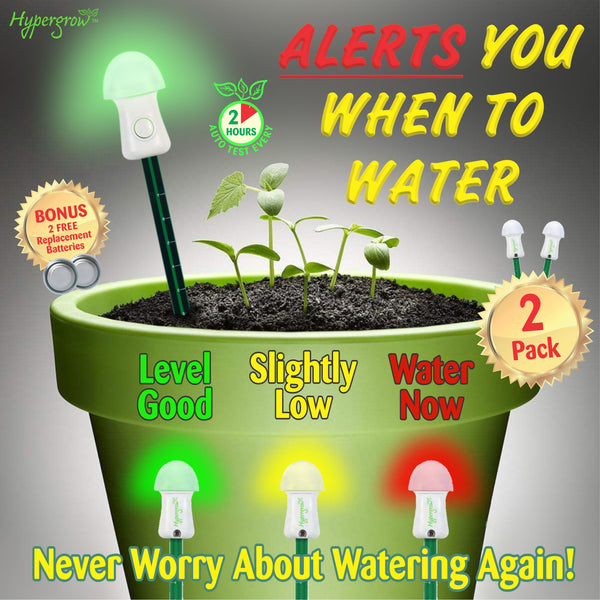 Automatic Soil Moisture Meter - Alerts you when to water! (2 Units)