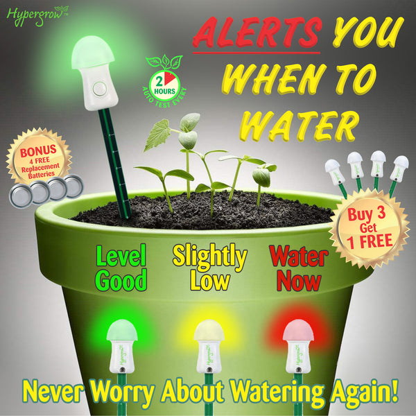 Automatic Soil Moisture Meter - Alerts you when to water! (3+1 FREE)
