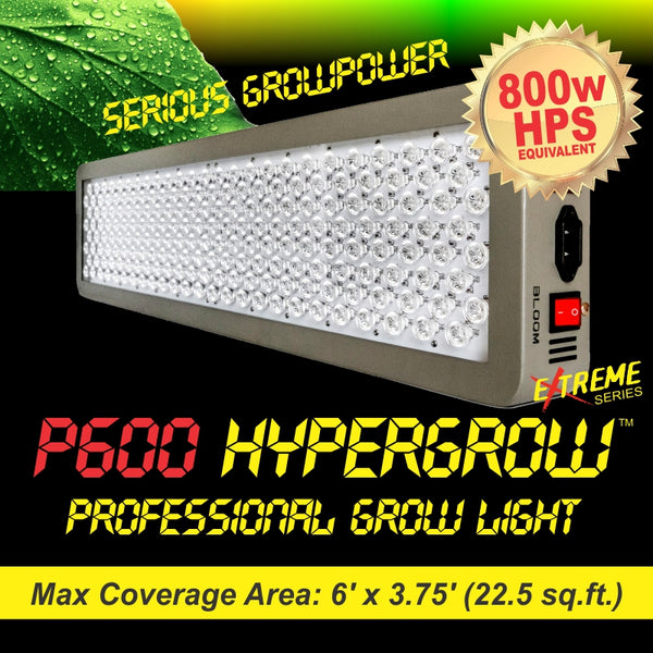 P600 HyperGrow™ Extreme Professional Full Spectrum Grow Light