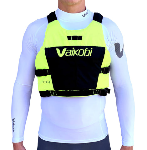 Vaikobi VXP RACE PFD - FLURO YELLOW/BLACK - Elite Paddle Gear