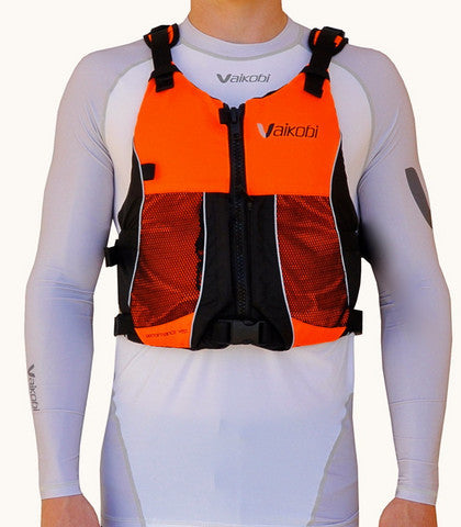 V Ocean Racing PFD - Neon Orange Red front view