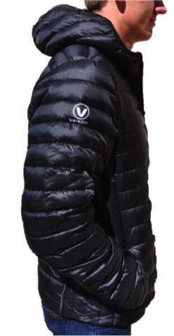 VAIKOBI HOODED DOWN JACKET- BLACK Side