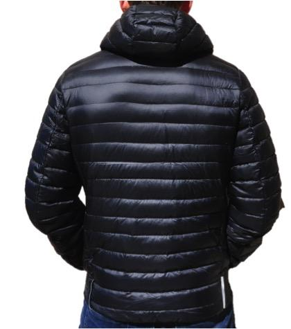 VAIKOBI HOODED DOWN JACKET- BLACK Rear