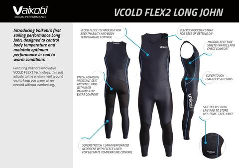 NEW - VCOLD FLEX 2 LONG JOHN - UNISEX - Elite Paddle Gear
