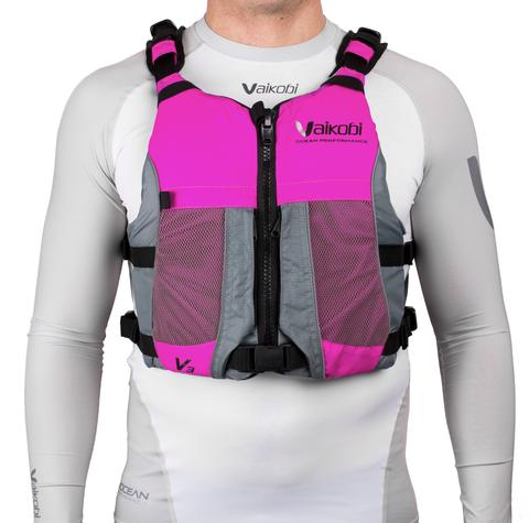 Vaikobi Limited Edition Ocean Racing PFD - PINK/GREY - Elite Paddle Gear