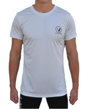 V OCEAN S/S UV PERFORMANCE TOP- LIGHT GREY Front View